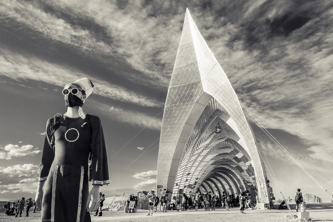08Burning Man 2015 Temple of Promise-B+W-APF