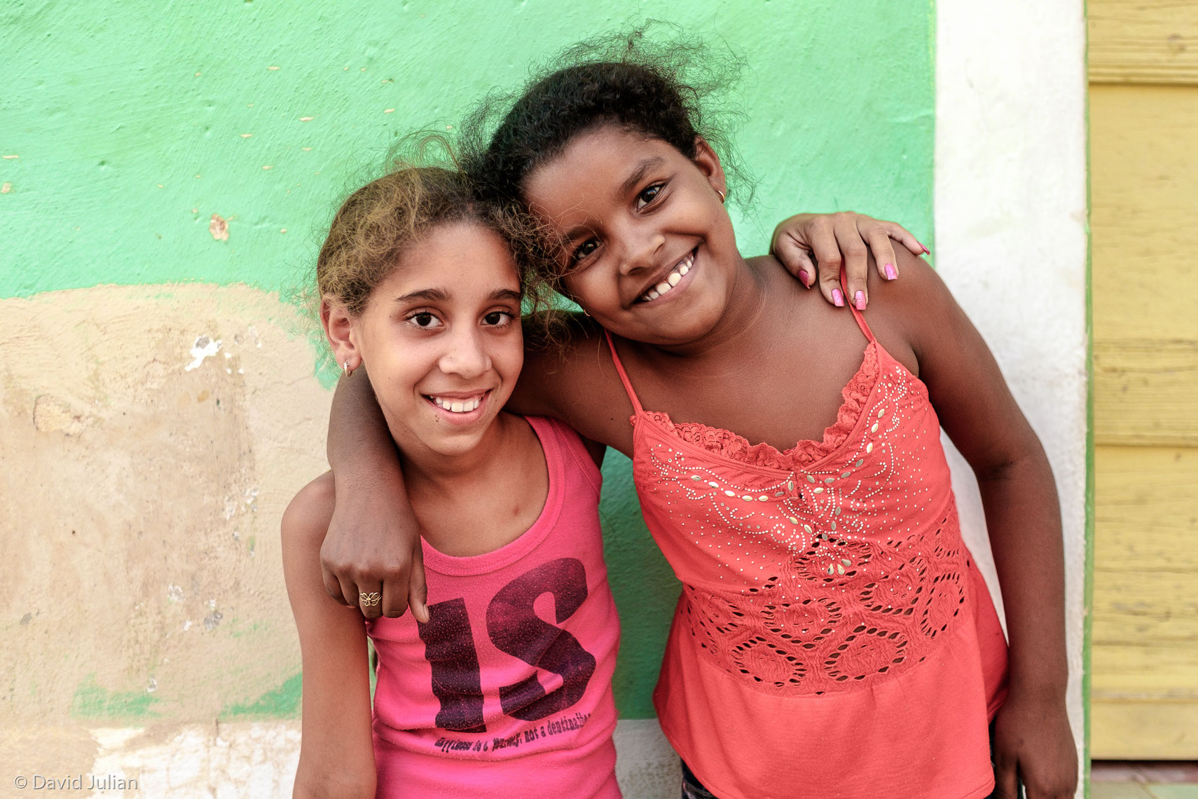 18_CUBA, Trinidad Two Girls, green wall-2688APF1860px