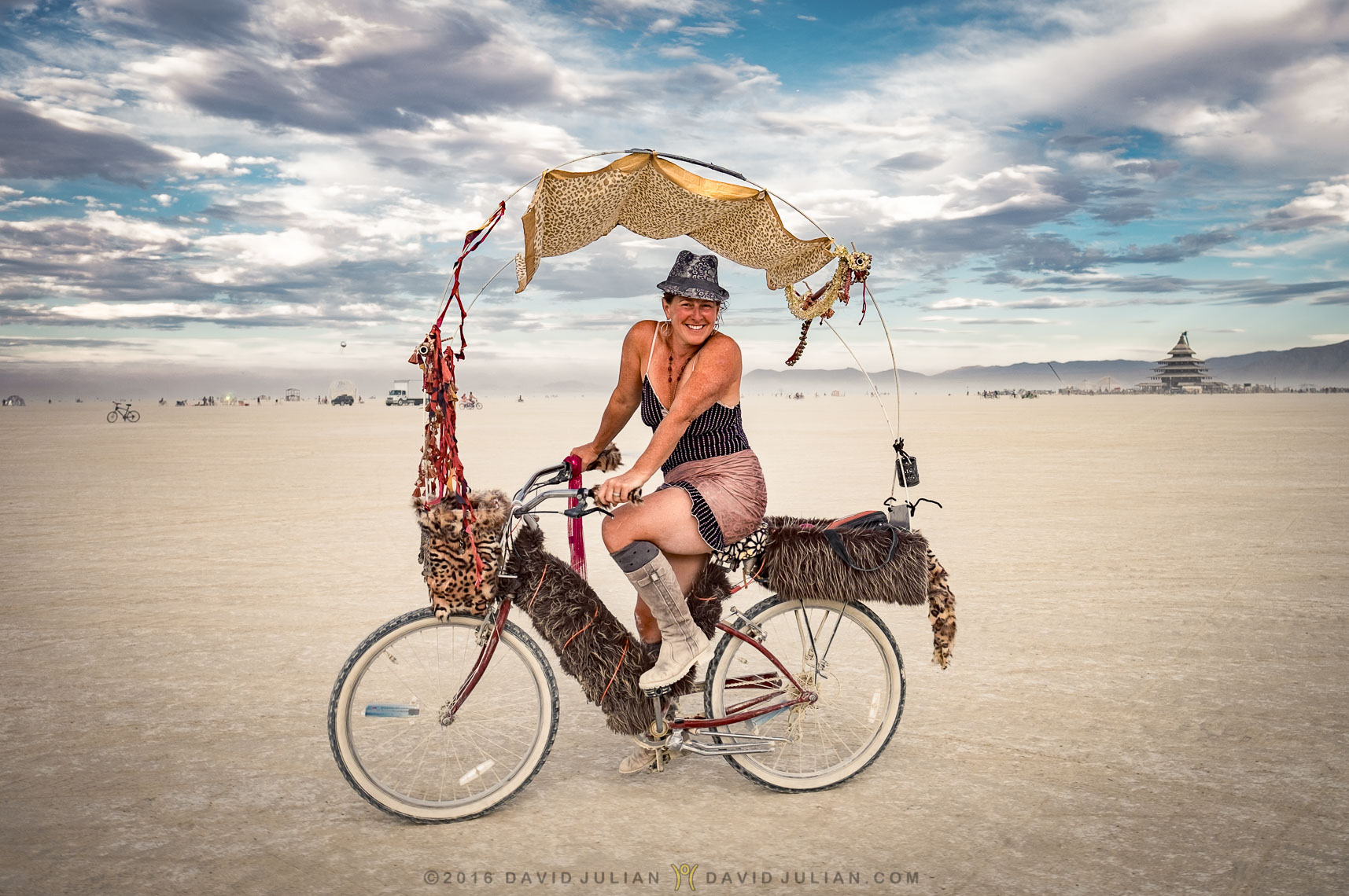 Donna Reid on her fabulous bike