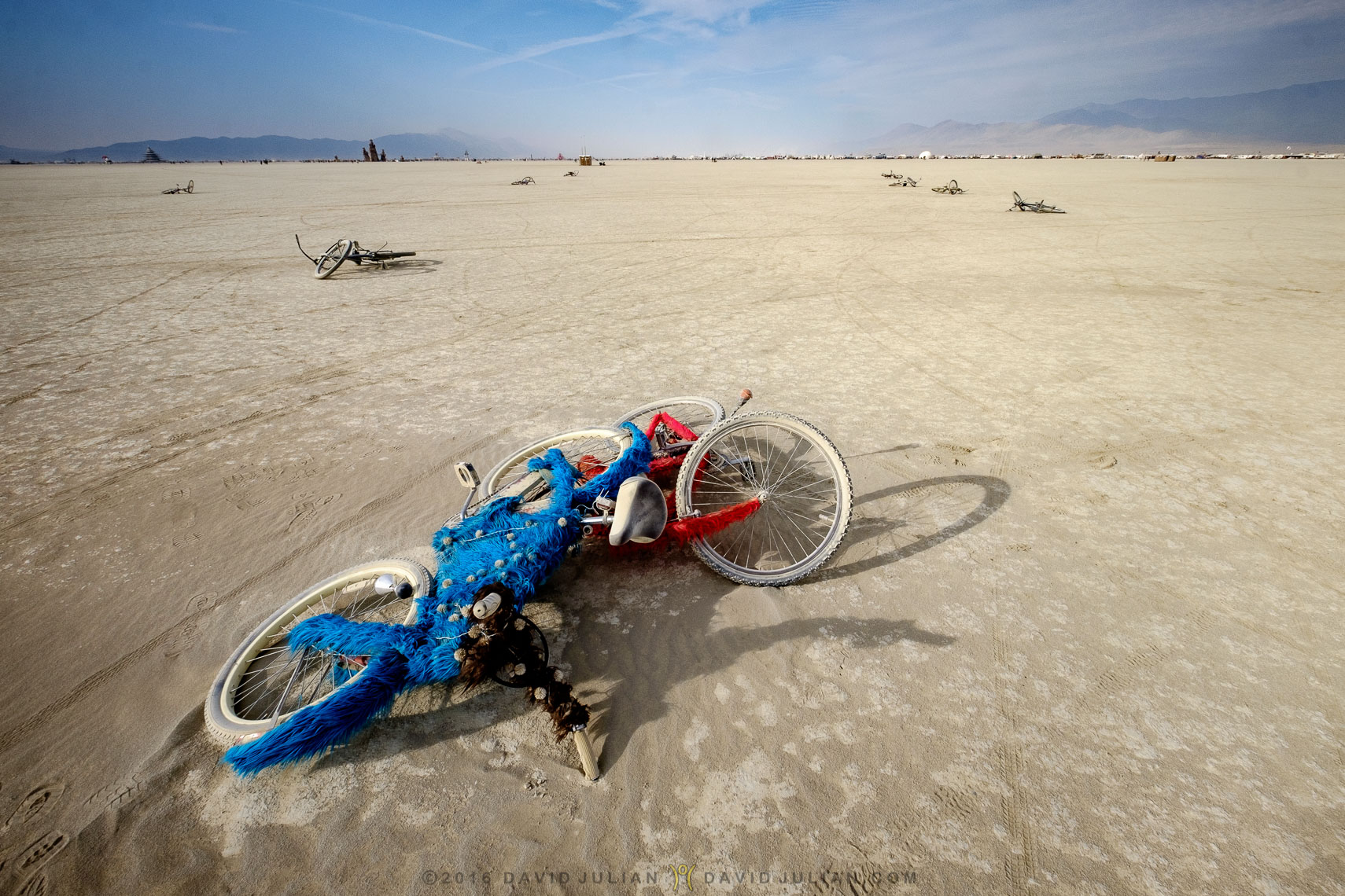 Abandoned bikes in deep playa