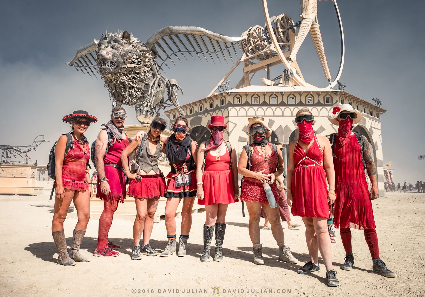 Hash House Harriers in Red
