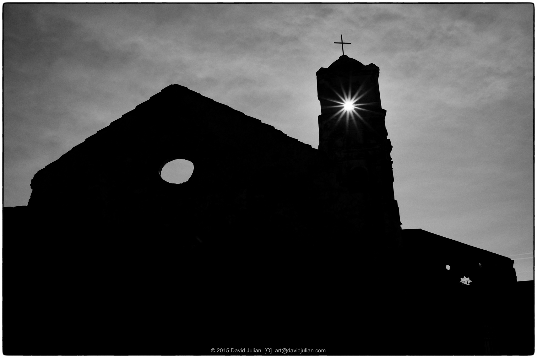 CUBA, TRINIDAD-sunspot-church